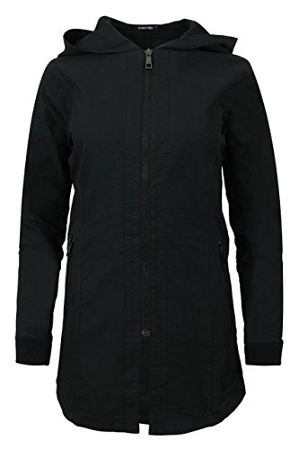 69b3d5721e ... trueprodigy Casual Damen Marken Übergangsjacke einfarbig Basic,  Damenjacke cool und stylisch mit Kapuze (Langarm ...