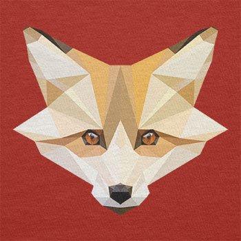 Texlab–Foxy polygons–sacchetto di stoffa Rot