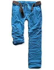 Eight2Nine Herren Chino Hose mit Gürtel MOD 446/2014 Herrenhose Cotton Style washed washed