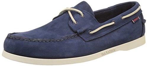 Sebago Docksides, Chaussures Bateau Homme Bleu (Navy Nubuck)