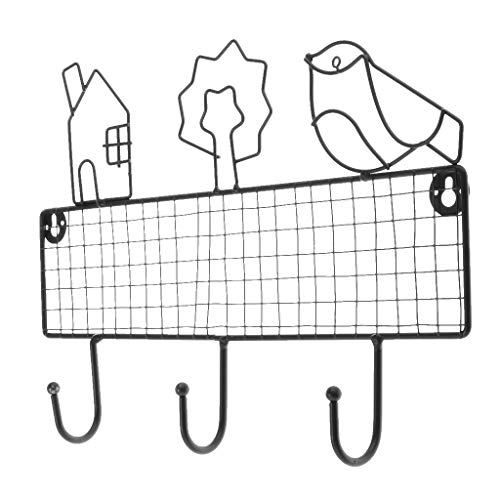 PETSOLA 3 Haken Türhalter Kappe Kleidung Tasche Organizer Rack Wand Kleiderbügel Haken - Cabin Schwarz - Cabin Handtuchhaken