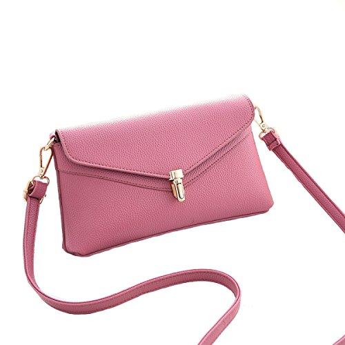 Signore Di Modo Borsa Casuale Delle Donne Multicolore Pink
