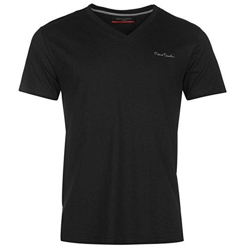 pierre-cardin-scollo-a-v-t-shirt-da-uomo-nero-top-maglietta-black-xxxl
