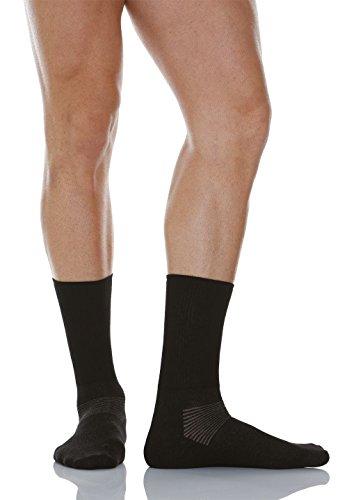 Relaxsan 550 (Noir, Taille 3) Chaussettes pour diabétiques avec fibre d'argent X-Static