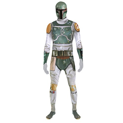 Morphsuits Offizielles Star Wars Boba Fett Digitales Kostüm - Größe Klein 4'6