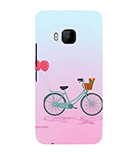 Clipart Bicycle Design 3D Hard Polycarbonate Designer Back Case Cover for HTC One M9 :: HTC M9 :: HTC One Hima