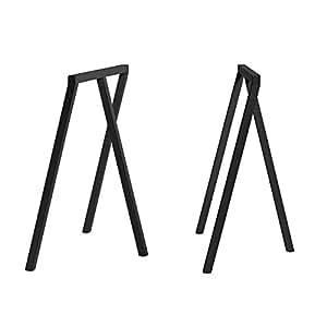 Hay loop stand frame tréteaux high-noir-lot de 2