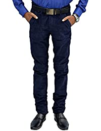 Etcetraz Mens Cotton Casual Slim Fit Trouser
