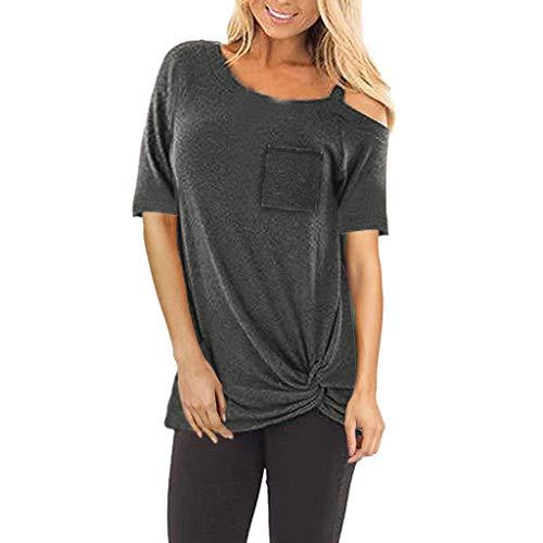 Frau Schläger-tank-shirt (Damen T-Shirt Kurzarmshirt Freizeit Anker Druken Oberteile Frauen Tops Ladies Sommer Tee)