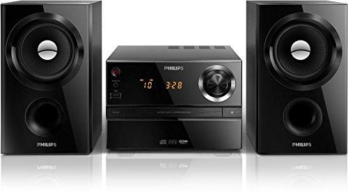 Philips MCM1350/12 - Stereoanlage (30 W MP3-CD, USB, FM), Schwarz