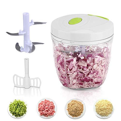 Justdolife Food Chopper Manueller Mehrzweck Mixer für FleischgemüSe (Chopper Mixer)