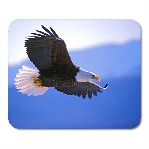 Mausunterlage Fliegen-Weißkopfseeadler im Flug, der in der Luft Kanada Alaska Mousepad für Notizbücher, Tischrechner-Mausunterlagen, Bürozubehör 10x12 Zoll ansteigt -