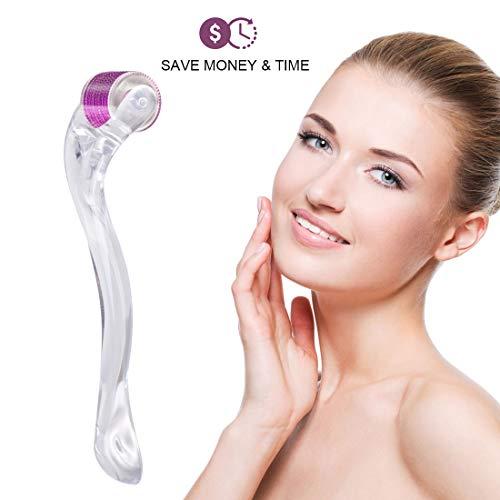 Hivexagon Premium Derma Roller, 0,25 mm 540 Microneedle Roller für die Hautpflege bei Gesichtsfalten Gesichtsroller, Microdermabrasion Facial Roller Microneedling Mit Aufbewahrungskoffer,Violett - Derma-peeling-behandlung