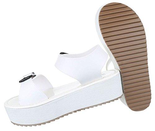 Damen Sandalen Schuhe Sommerschuhe Strandschuhe Moderne Weiß Coral Türkis 36 37 38 39 40 41 Weiß