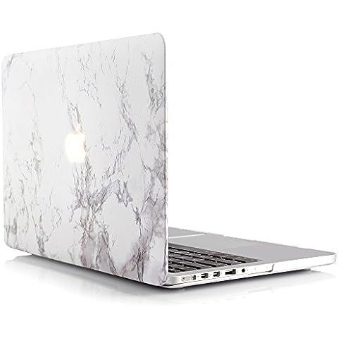 iDOO Funda dura de goma con acabado mate [Para MacBook Pro Retina 15 Pulgadas - sin unidad de CD: A1398] - Color mármol