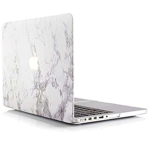 iDOO Coque Rigide en Mat givré en caoutchouc [MacBook Pro 15 pouces Retina - Sans lecteur de CD: A1398] - Marbre