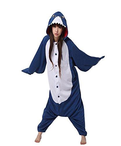 VU Roul Animal Kleidung Erwachsene Kostüm Shark Schlafanzüge Cosplay Stil Gr. X-Large, (Erwachsene Inc Mike Für Kostüme Aus Monsters)