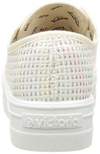 Victoria Tejido Lurex, Baskets Basses Fille Multicolore (Multicolor)