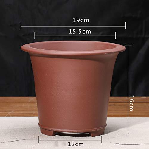 flower pot Lila ton Blumentopf Fleischig Blumentopf Bonsai Handbuch Grüne Pflanze Gartenarbeit Blumentopf-B