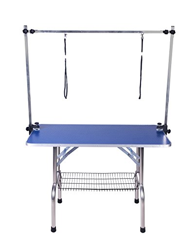 btm-w115d55h79cm-442232inchextra-large-pro-h-frame-dog-pet-grooming-table-portable-folding-arm-noose