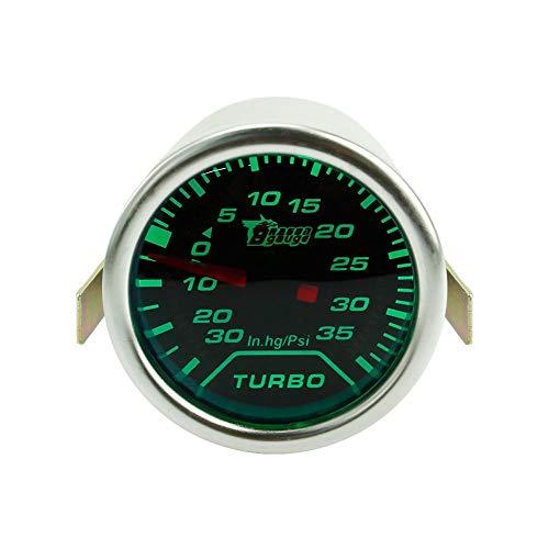 LED grünes Licht Öldruck Turbo Ladedruckanzeige Öltemperatur Wassertemperaturanzeige Meter für Car Racing 12V Fahrzeug