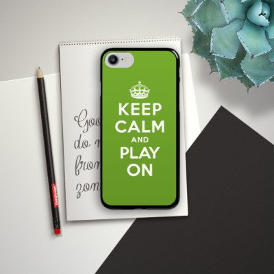 Apple iPhone X Silikon Hülle Case Schutzhülle Keep Calm Games Konsole Hard Case schwarz