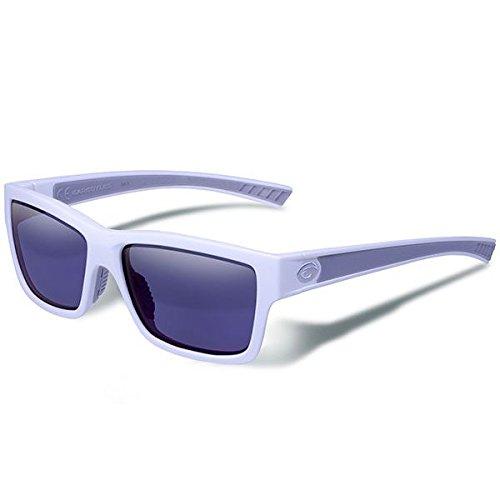 Blue Schutzbrille Mirror (Gargoyles Performance Eyewear Heimatland Polarisierte Schutzbrille, unisex, Matte White Frame/Smoke with Blue Mirror Lenses)