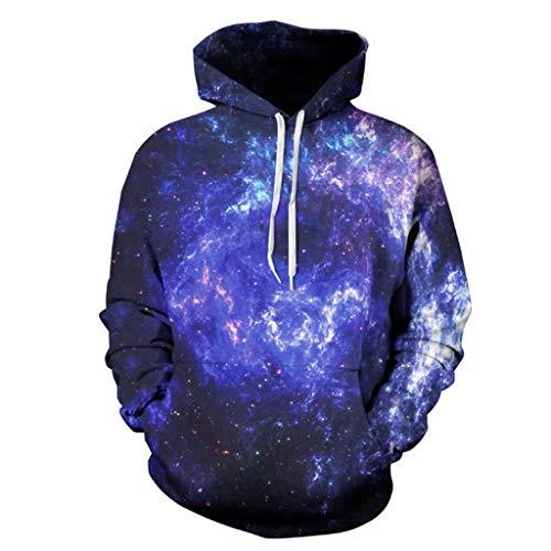 HAOHAOWU Halloween Kapuzenshirt, Retro Unisex Realistischer 3D-Druck Kapuzenshirt Sportwear Hooded Sweatshirt Couple Hoodies,D,S/M