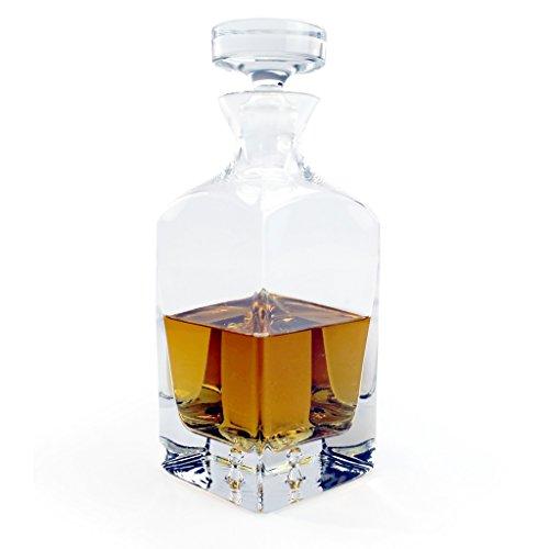 A.P. Donovan - decantador de whisky - jarra del whisky / decantador - con cerradura - para los momentos especiales de placer - 750ml - Minimal