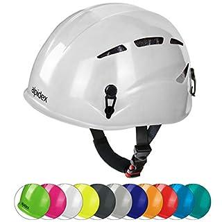 ALPIDEX Universal Climbing Helmet ARGALI Via Ferrata Helmet in many modern colours by, Colour:bright white