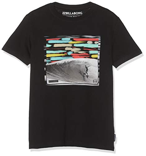 BILLABONG Jungen Kurzarm-T-Shirt HIGH LINE SS, Black, 12, N2SS06 BIP9 19 -