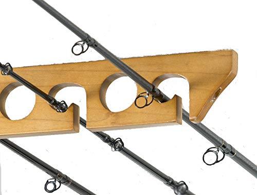 CPR-009 Hängegestell für Angelrute aus massivem Kiefernholz, horizontal, für bis zu 9 Angelruten