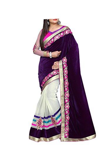 Esclusiva indiano etnica bollywood designer multicolore metà metà saree partywear