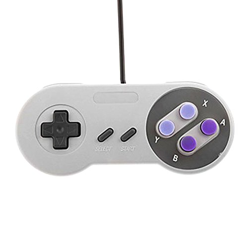 cooreo 2 Pcs SNES USB Gamepad Joystick Game Controller für Windows PC/Mac AC440