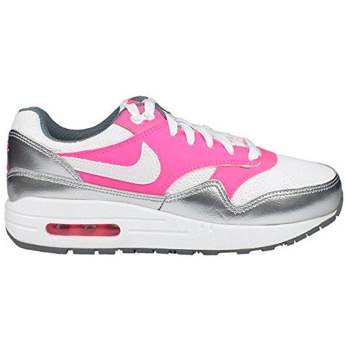 Zapatillas Nike ? Air Max 1 (Gs) Blanco/Rosa Power/Gris Cool 36