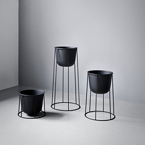 Menu 4774539 Blumen-/Pflanztopf, Metall, schwarz, 23 x 23 x 17 cm - 6