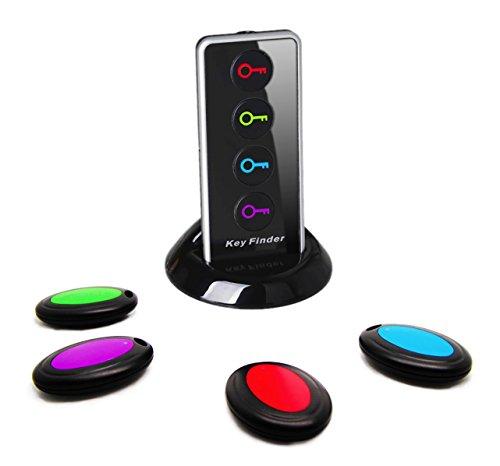 Wireless Camera Finder (Schlüssel sofort finden: Mit dem Original Key Finder (Schlüsselfinder) sparen Sie kostbare Zeit und schonen Ihre Nerven! – Version [1 Sender & 4 Empfänger])