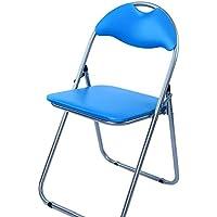 Azul plegable acolchada para oficina recepción silla de escritorio sillas plegable fácil almacenamiento Diversos colores disponibles 43,5x 46x 79,5cm) (azul)