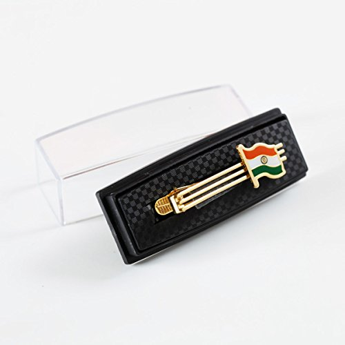 The Flag Shop Indian Flag Gold-Plated Brass Tiepin For Clothing Accessories
