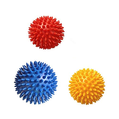 NiceButy Lacrosse-Ball Myofascial Tension Mitteilung, Fascia Mitteilung, Fußmassage Ball, Rückenmassage Ball, Triggerpunkt-Behandlung Ball, Muskel-Knoten, Yoga, 3 Ball Taschen Körperpflege