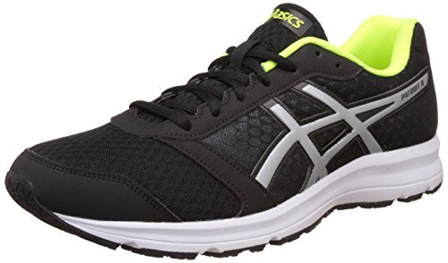 Asics Men's Patriot 8 Black, Silver and Safety Yellow Running Shoes - 6 UK/India (40 EU)(7 US)  available at amazon for Rs.3289