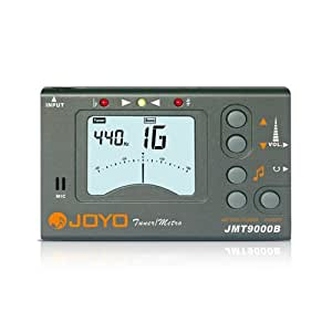 JOYO JMT-9000B - Strumento digitale 3 in 1 (metronomo, accordatore e generatore di toni) con display LCD