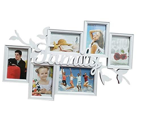mbination Bilderrahmen Familie Brief Injektion siamesische Bilderrahmen Wand 7 Zoll 6 Zoll 61 * 39 cm (Color : White) ()