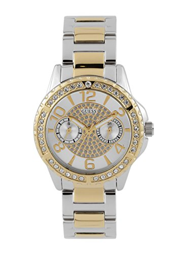 Guess Sassy Silver Dial Multi-function Women's Watch -W0705L4