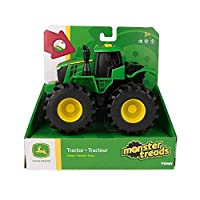 John Deere Monster Treads Lights and Sounds Tractor Toy | Monster Truck Toy with Realistic Light and Sound Effects | Green Toys for Children, Boys & Girls 3, 4, 5+ Year Olds