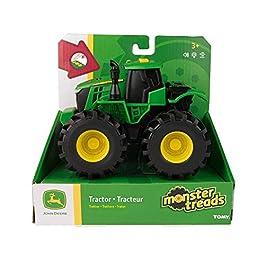TOMY- Monster Treads John Deere Trattore Luci e Suoni, Multicolore, 46656