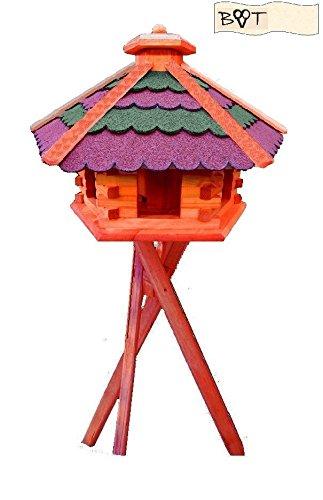 Bird Feeder Xxxl Vöglehus Bird House, Wood B60r Ggms Wooden Bird House Bird Feeder With Stand