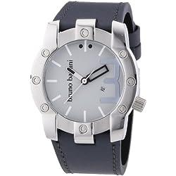 Bruno Banani Herren-Armbanduhr XL Seth Analog Quarz Leder BR22071