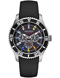 6b67bc7db8cb Nautica Reloj Analógico para Hombre de Cuarzo con Correa en Silicona A12626G