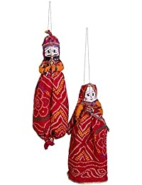 """Koushalya Handicraft"" Pair Of-1 Cotton Puppet / Katputli For Home And Office Décor."